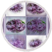 A Bouquet Of Lilacs Round Beach Towel
