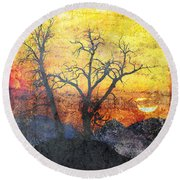 A Brilliant Observer Of Life Round Beach Towel by Brett Pfister