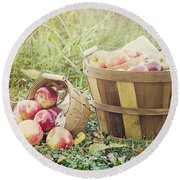 A Bushel And A Peck Round Beach Towel
