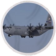 A C-130j Super Hercules Of The 317th Round Beach Towel