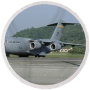 A C-17 Globemaster IIi Of The U.s. Air Round Beach Towel