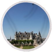 A Chateau Like From A Fairy Taile Round Beach Towel