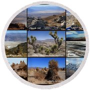 A Collection Of Views Round Beach Towel