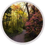A Colorful Path  Round Beach Towel