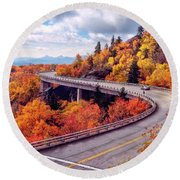 A Colorful Ride Along The Blue Ridge Parkway Round Beach Towel