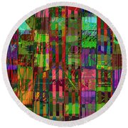 A Country Scene Round Beach Towel