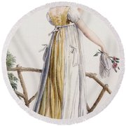 A Country Style Ladies Dress Round Beach Towel
