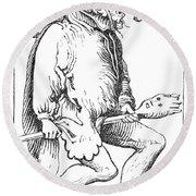 A Court Fool, 1552 Round Beach Towel