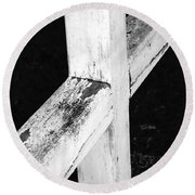 A Cross Abstract 2 Round Beach Towel