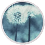 A Dandy In Blue Round Beach Towel