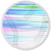 A Day At The Beach Pastels Round Beach Towel