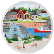 A Day With Dad Round Beach Towel