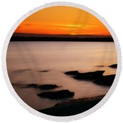 A Day's End Round Beach Towel