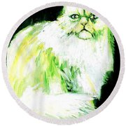 A Dionysan Goddess Of Delight Round Beach Towel