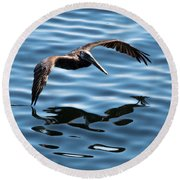 A Dip In The Pool Round Beach Towel