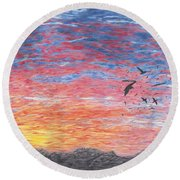 A Distant Time Round Beach Towel