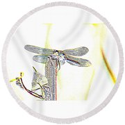 A Dragonfly In My Dreams Round Beach Towel