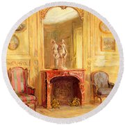 A Drawing Room Round Beach Towel