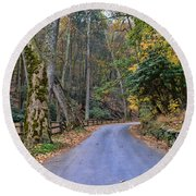A Drive In The Country Round Beach Towel by Paul Ward