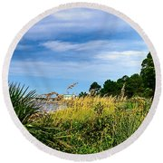 A Drive With A View Round Beach Towel
