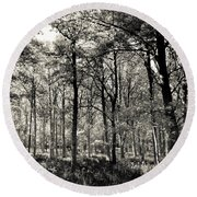 A English Forest Round Beach Towel