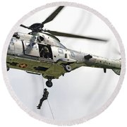 A Eurocopter As332 Super Puma Round Beach Towel