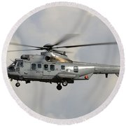A Eurocopter As532 Cougar Of The Royal Round Beach Towel