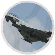 A Eurofighter Typhoon Of The Royal Air Round Beach Towel