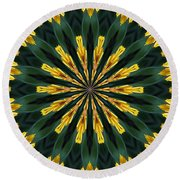 A Fanfare Of Flowers Round Beach Towel
