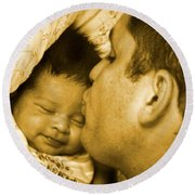 A Father's Love Round Beach Towel