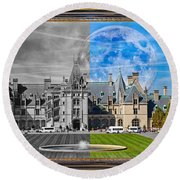 A Feeling Of Past And Present Round Beach Towel
