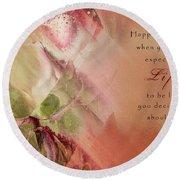A Fleur De Peau - Happiness Quote 03 Round Beach Towel