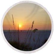 A Florida Sunset Round Beach Towel