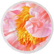 A Flower Effect Round Beach Towel