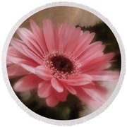 A Flower For Brooke Round Beach Towel