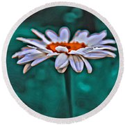 A Flower For You Round Beach Towel