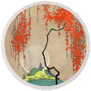 A Flowering Tree Round Beach Towel
