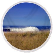 A Force To Be Reckoned With Round Beach Towel