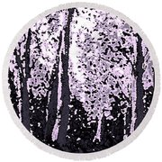 A Forest Silhouette Round Beach Towel