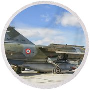 A French Air Force Mirage F1 Round Beach Towel
