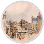 A French Market Place Round Beach Towel
