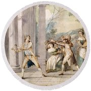 A Game Of Blind Mans Buff, C.late C18th Round Beach Towel
