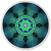 A Gathering Of Sorts Round Beach Towel