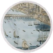 A General View Of The City Of London And The River Thames Round Beach Towel