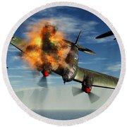 A German Heinkel Bomber Plane Crashing Round Beach Towel