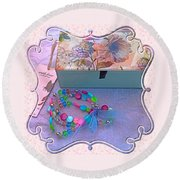 A Gift With Love Round Beach Towel