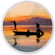 A Glorious Day Round Beach Towel