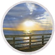 A Glorious Moment Round Beach Towel