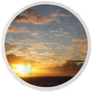A Golden Sunrise - Singer Island Round Beach Towel