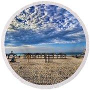a good morning from Jerusalem beach  Round Beach Towel